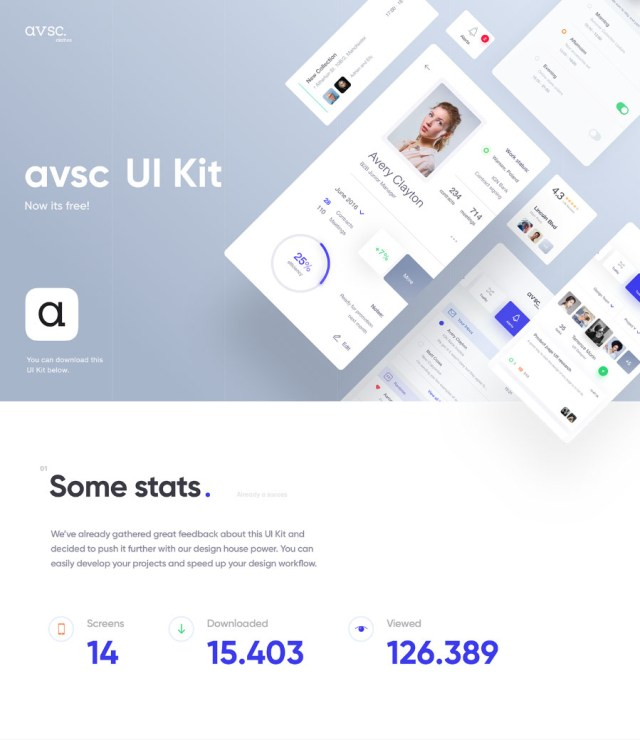 avsc Free Sketch UI Kit Design