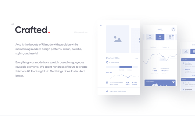 avsc Free Sketch UI Kit Design