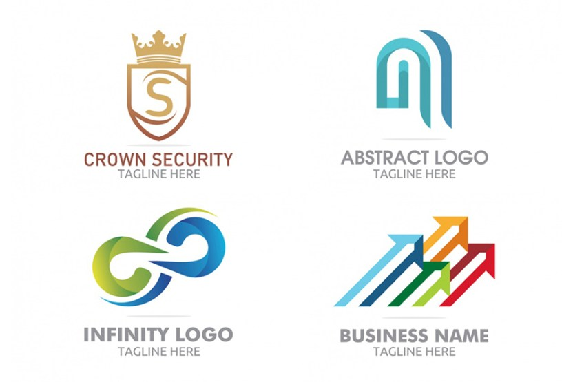 4 free colorful logo templates free design resources 4 free colorful logo templates fbccfo Images