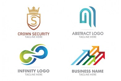 Logo templates free design resources 4 free colorful logo templates cheaphphosting Choice Image