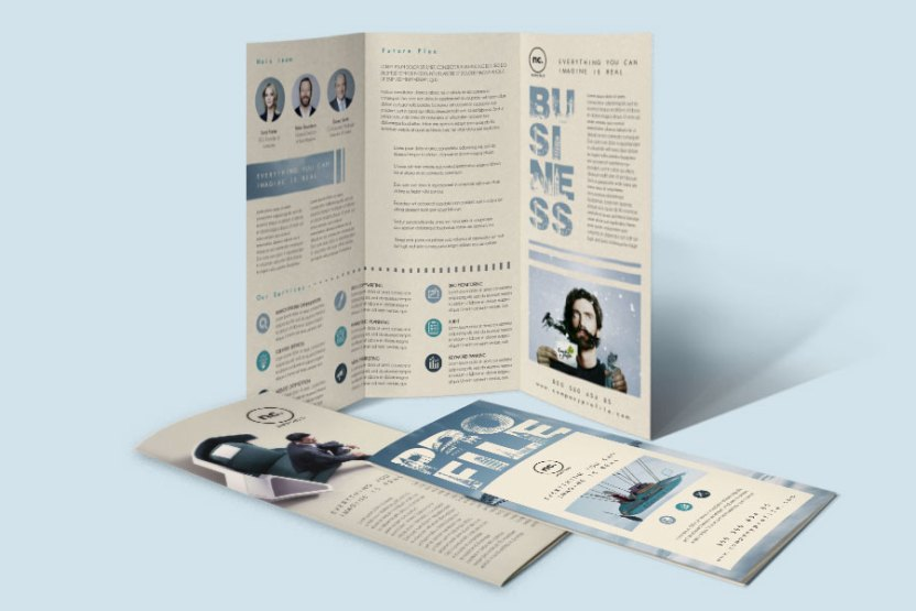 company profile trifold brochure template