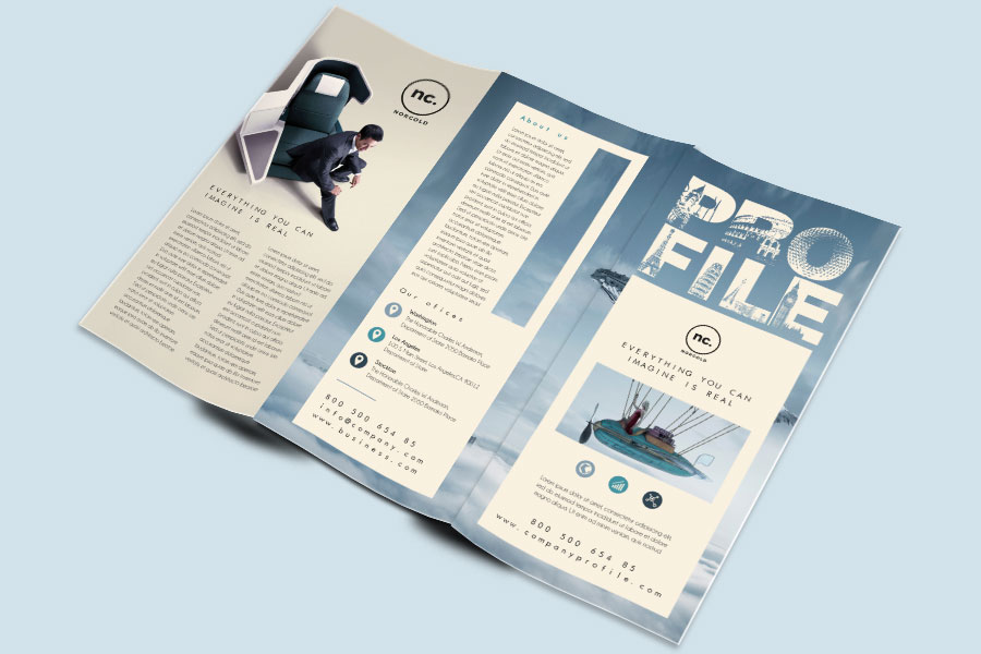 Company Profile Trifold Brochure Template Free Design Resources