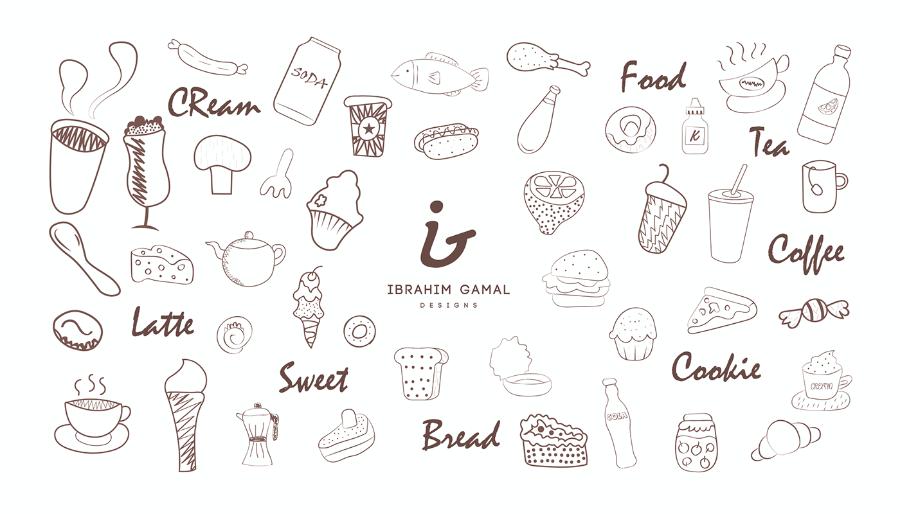 Free Food Vector Doodles