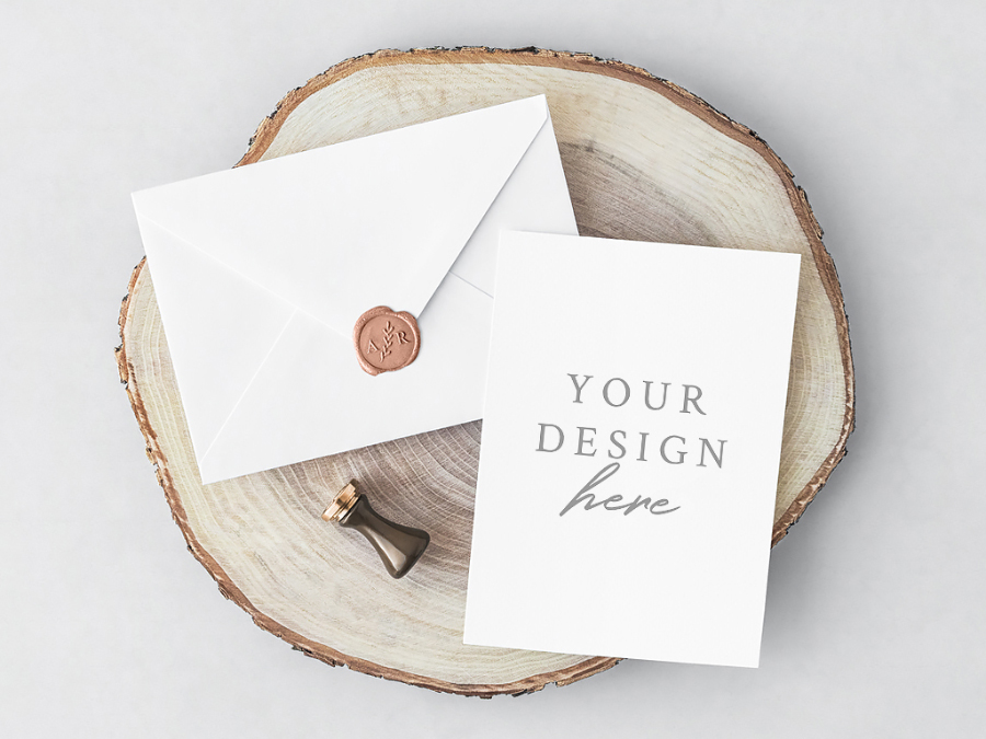 Free psd invitation card envelope free design resources free psd invitation card envelope stopboris Choice Image