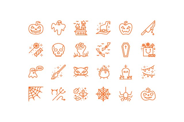 Minimal Halloween Icon Pack