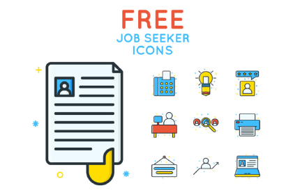 Free Job Seeker Icon Pack
