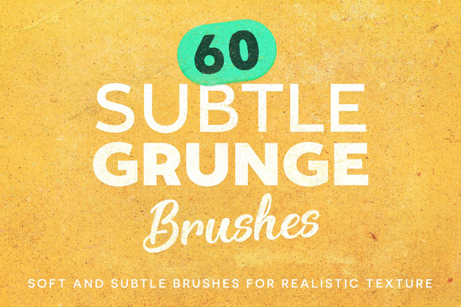 6 Subtle Grunge Brush Demo