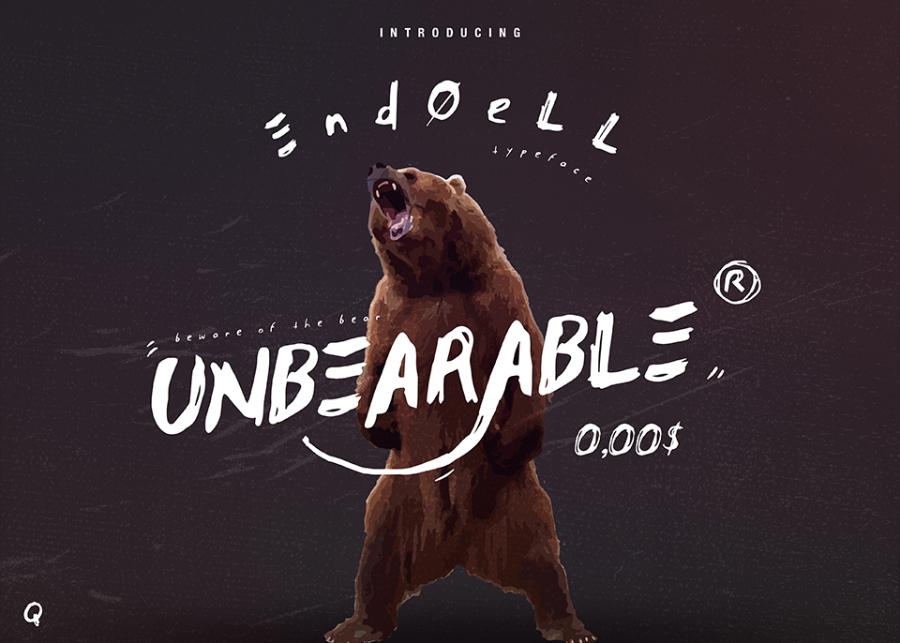 Unbearable Handwritten Typeface