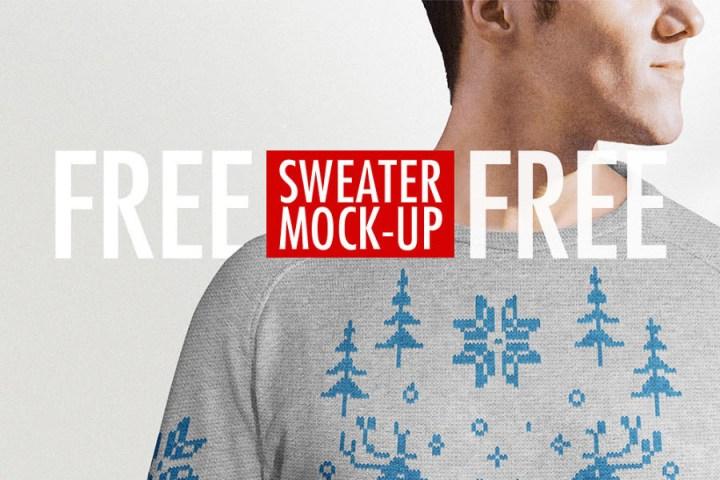 Free PSD Sweater Mockup