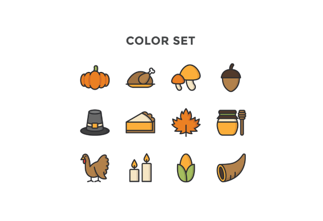 Free Thanksgiving Icon Pack