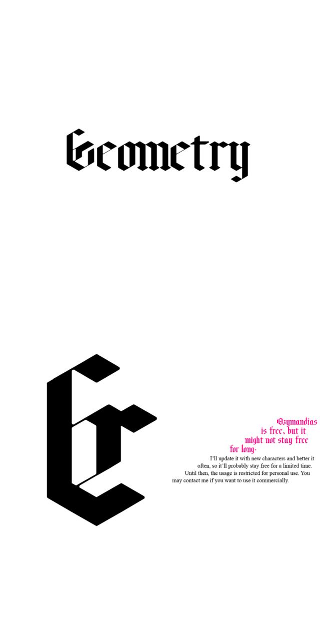 Ozymandias Free Typeface