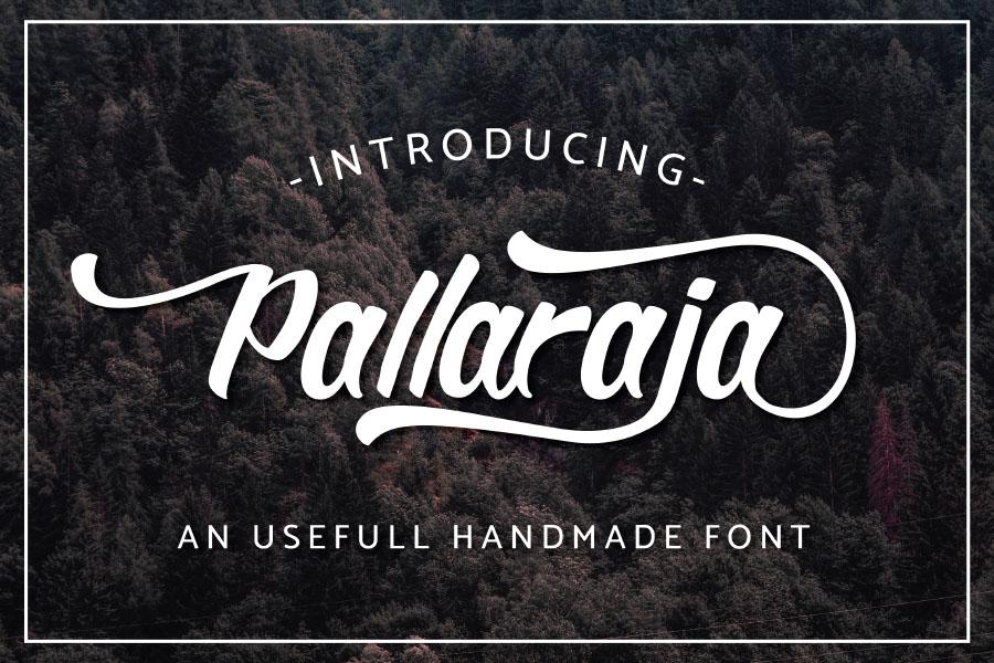 Pallaraja Script Free Typeface