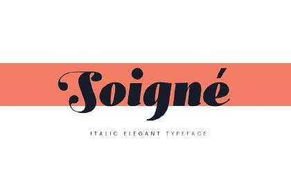 Soigné Free Bold Typeface