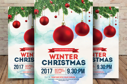 Free Christmas Winter Flyer