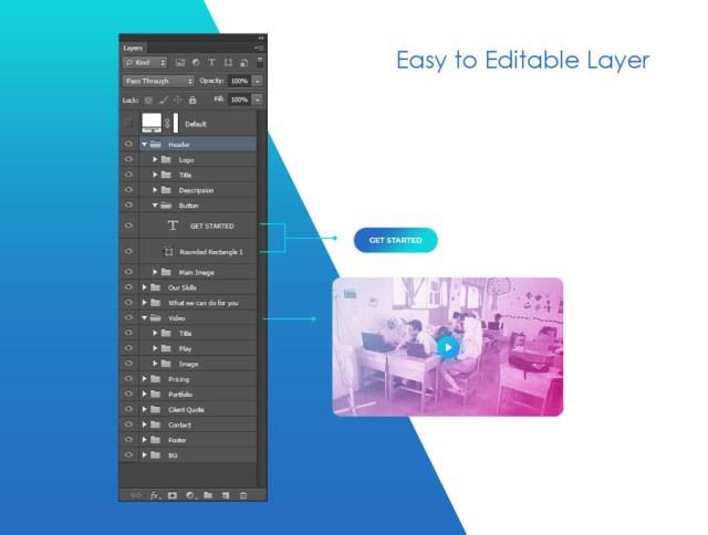 Free App Landing Page Design