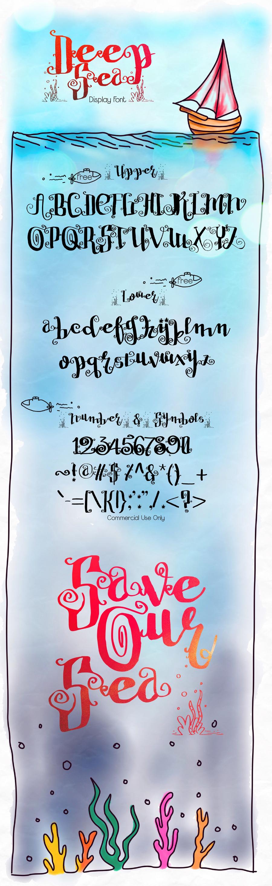Deep Sea Free Display Font