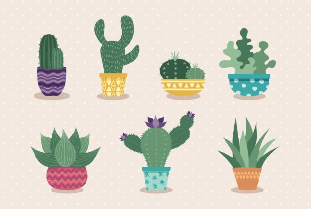 Free Hand-drawn Cactus Vector Set