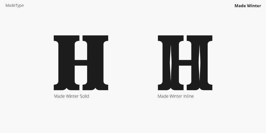 Made Winter Serif Font Duo