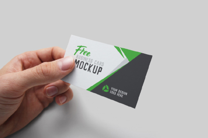 Realistic Business Card PSD Mockup