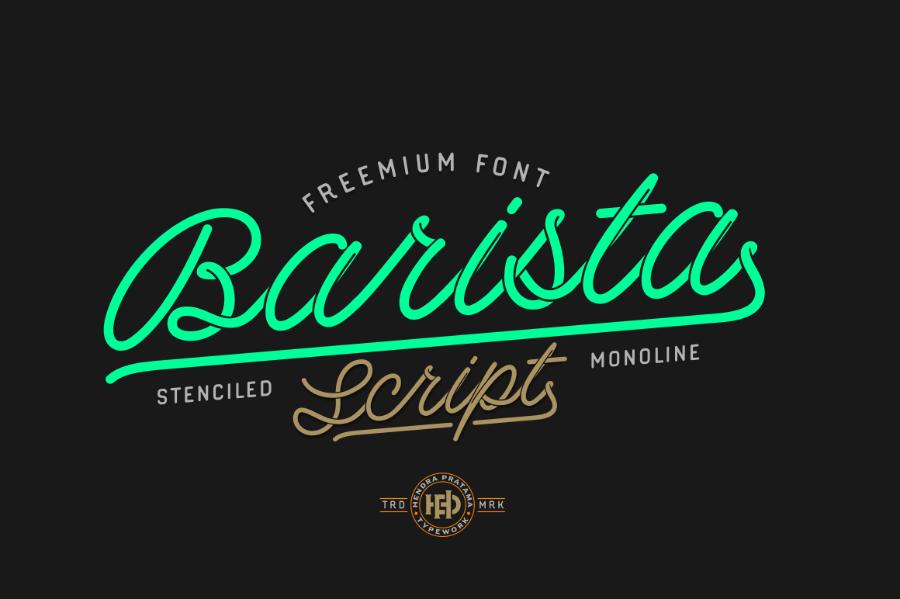 tipografías para logos gratis barista script