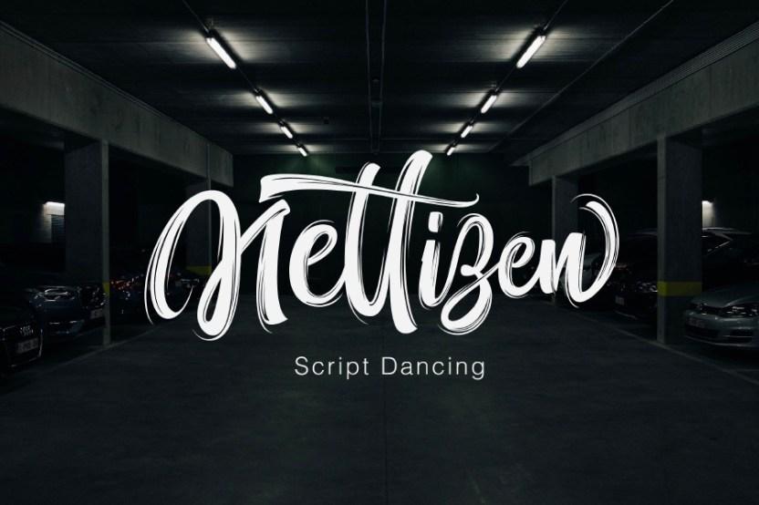 nettizen brush font demo free design resources