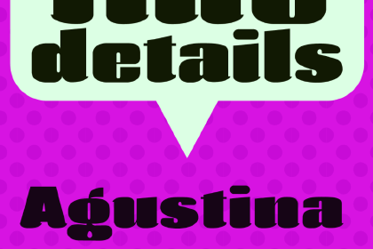Agustina Heavy Free Font