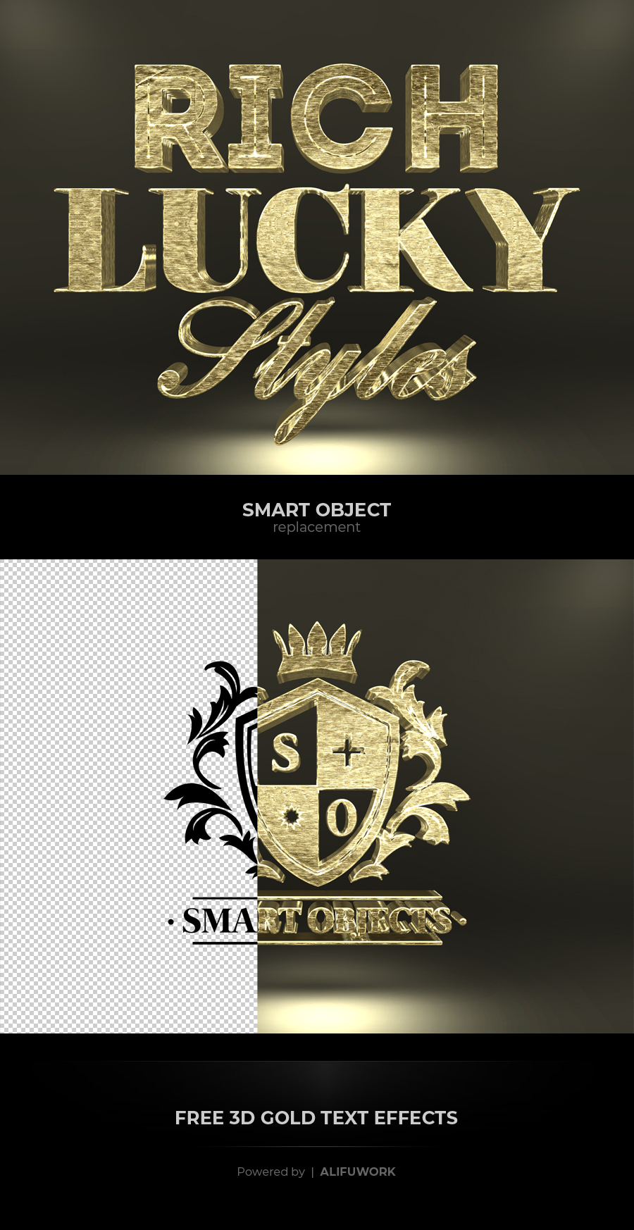 Free 3D Gold Text Effects – Free Design Resources