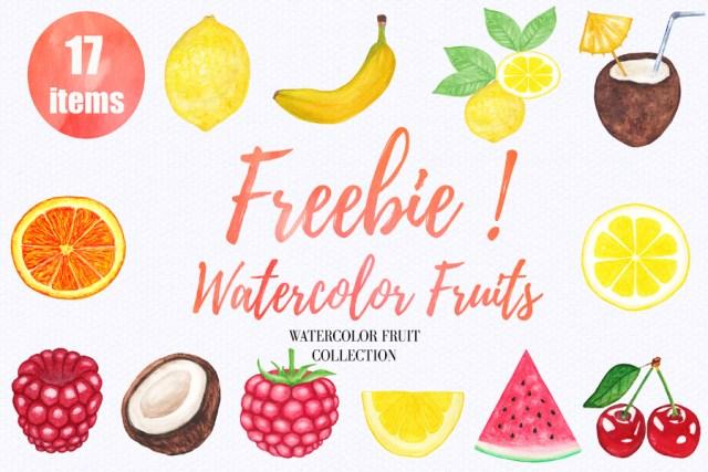12 Free Watercolor Fruits