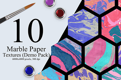 10 Marble Ink Paper Textures