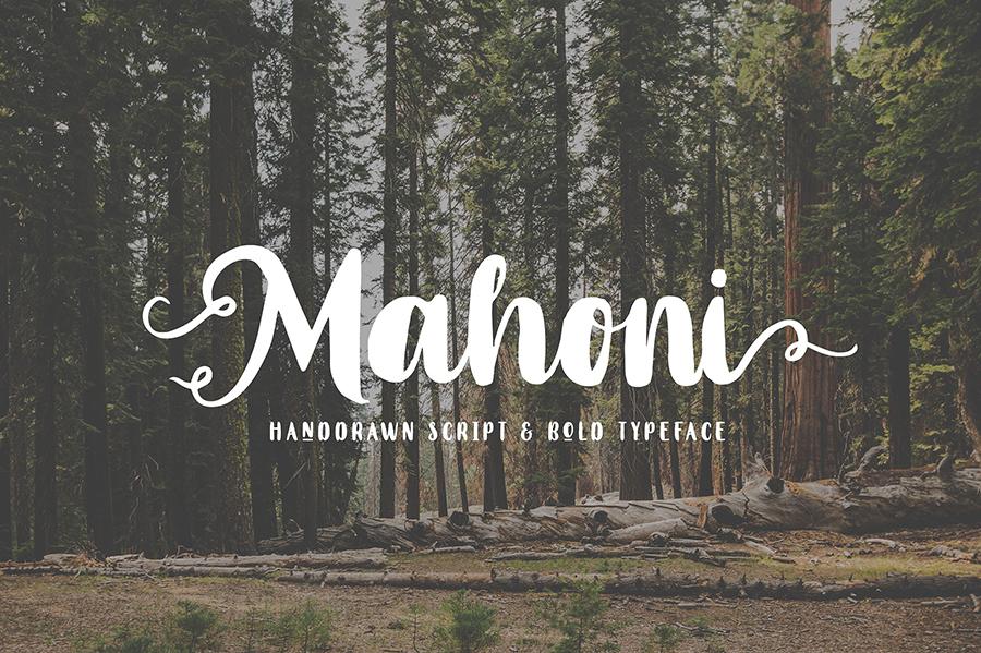 Mahoni Bold Script Demo