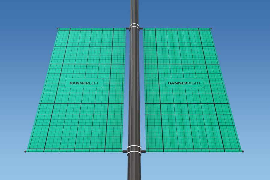 Rectangle Lamp Post Mocku-up