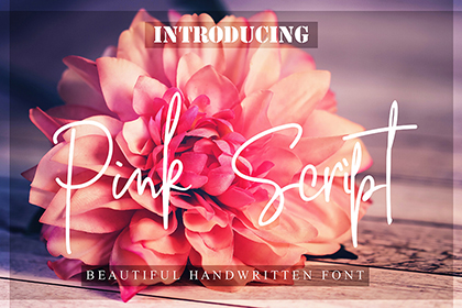 Pink Script Free Font Demo