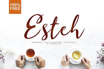 Esteh Script Free Typeface