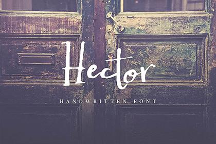 Hector Handwritten Font Demo