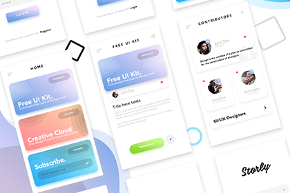 Stories Free Mobile UI Kit