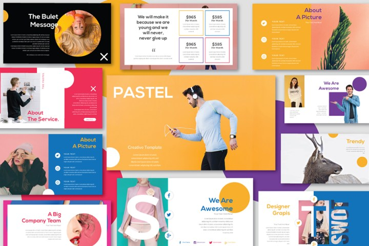 Pastel Free Presentation Template