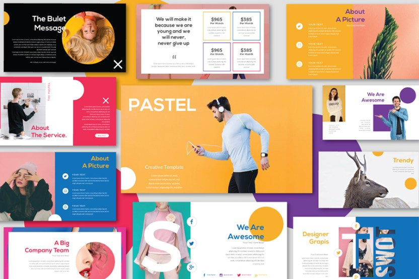 pastel free presentation template free design resources