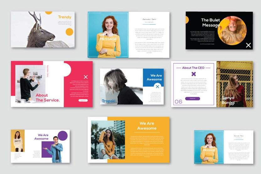 pastel free presentation template free design resources