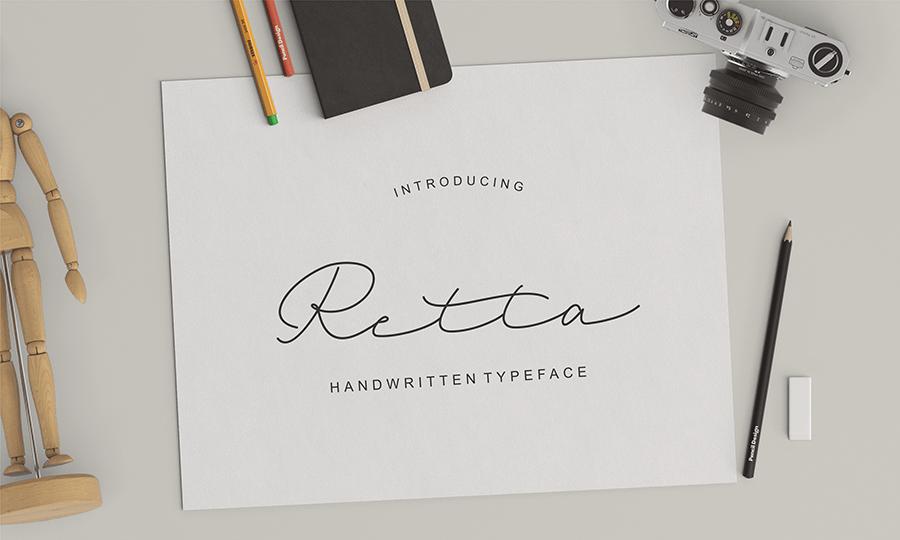 Retta Handwriting Free Demo