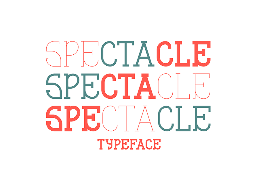 Spectacle Free Display Typeface