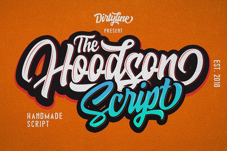 Hoodson Script Font Demo