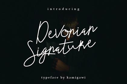 Devonian Signature Free Font