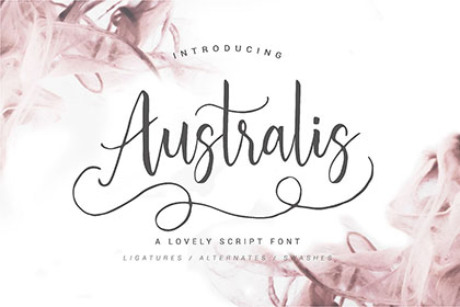 Australis Handwriting Font Demo