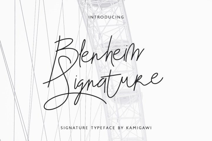 Blenheim Free Font Demo