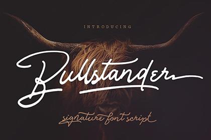 Bullstander Signature Font Demo