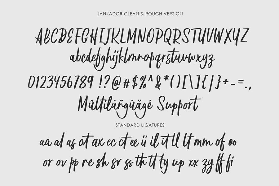 Jankador Free Handwriting Font