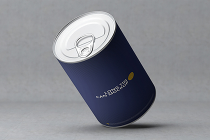 Free Long Tin Packaging Mockup