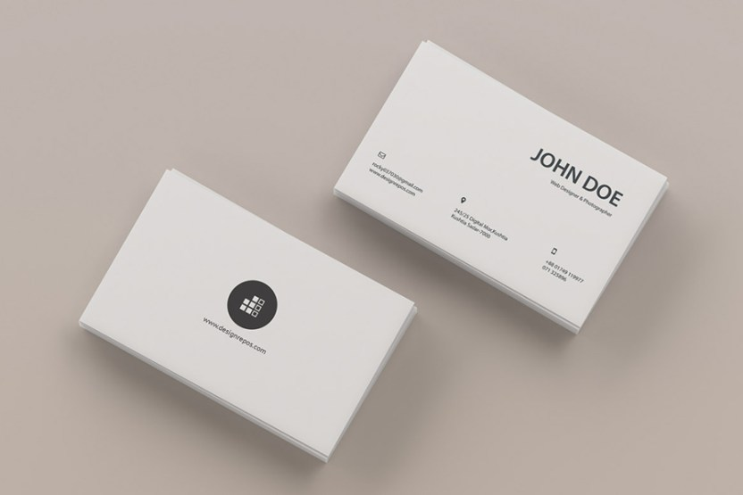 top view business card mockup - Business Card Mockups