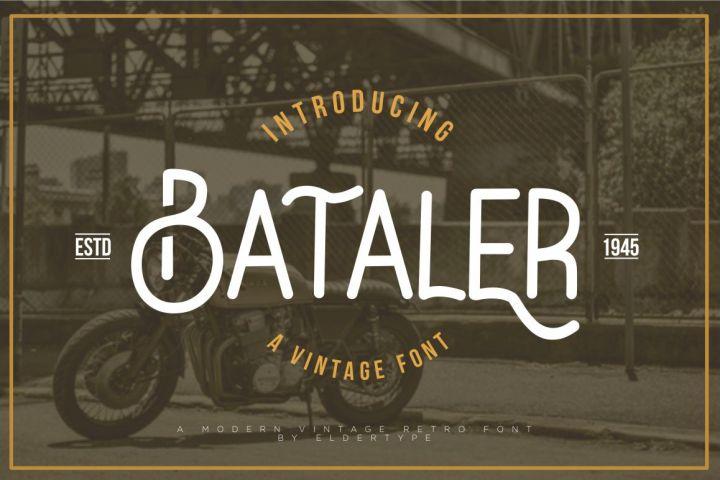Bataler Vintage Font Demo