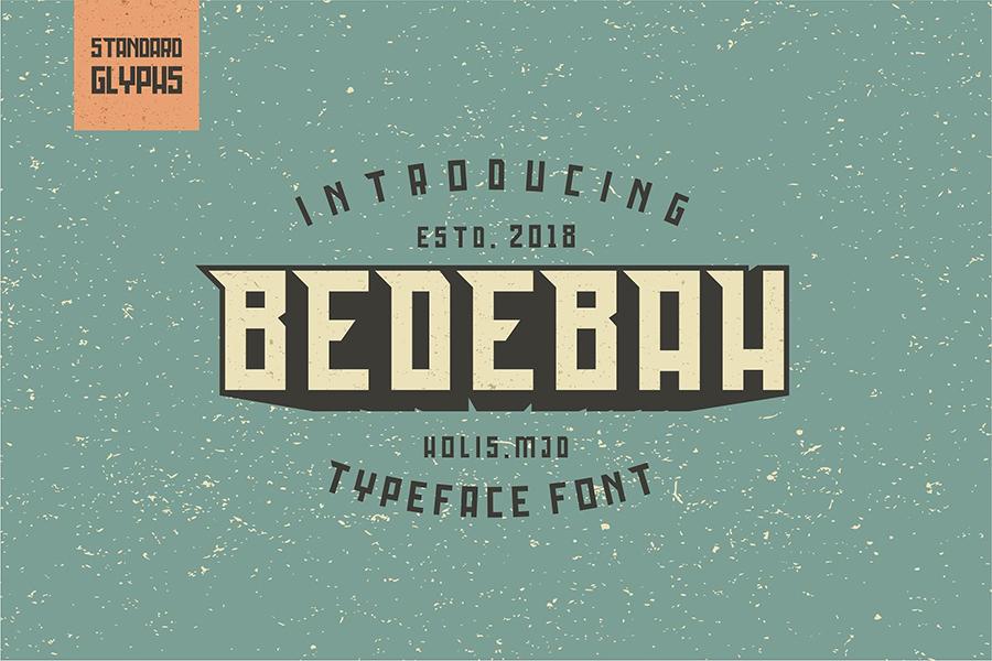 Bedebah Typeface Font Demo